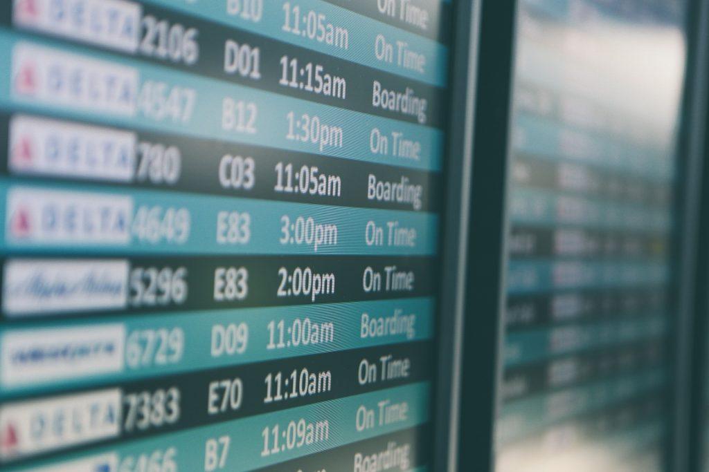 Termine Flughafen