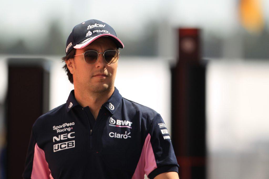 El conductor de Fórmula 1, Sergio Pérez.