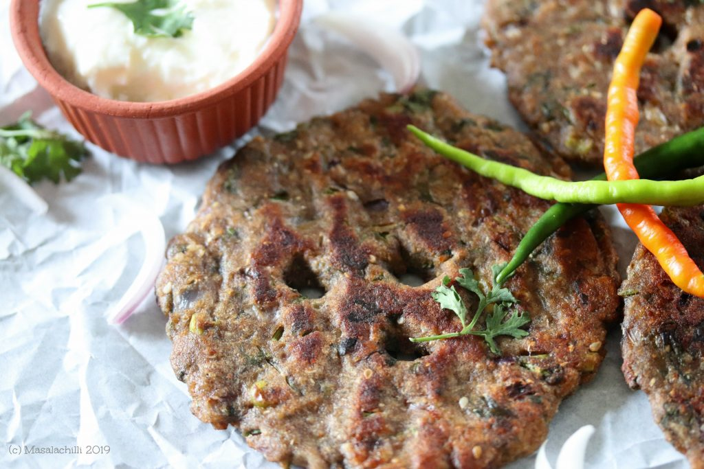 Thick Millet based thalipeeth
