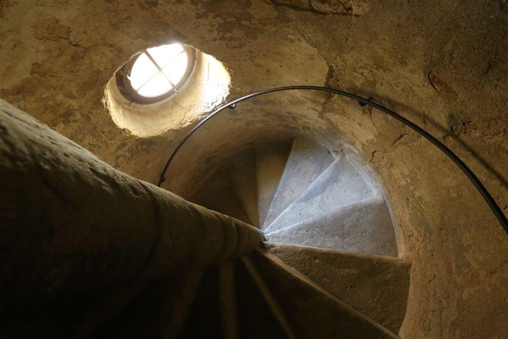 Grabštejn schodiště na věž