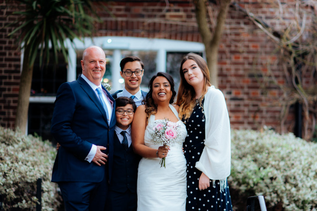 family portrait weybridge wedding