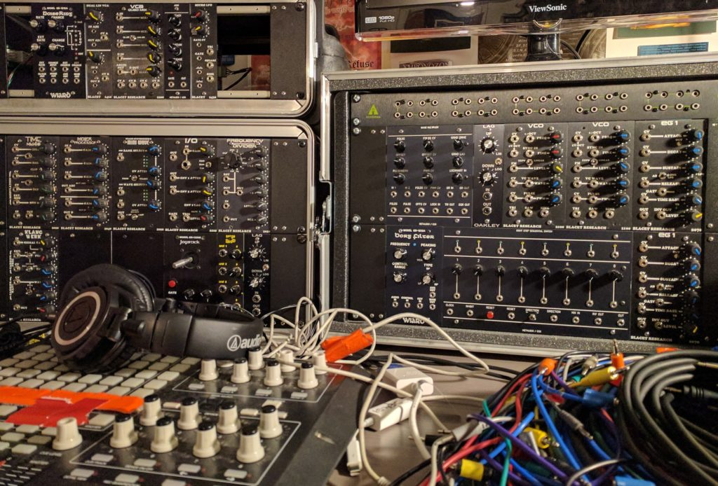Frac Rack rig - a format that was a precursor to today's Eurorack.