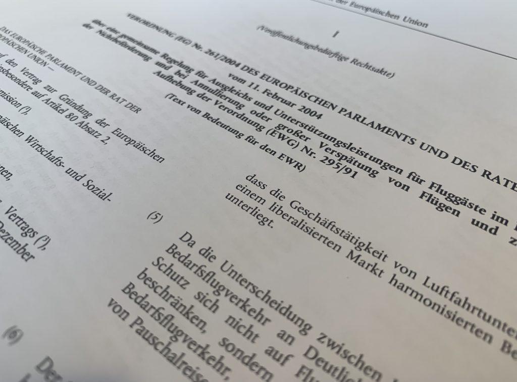 Die EU-Fluggastrechteverordnung 206/2014