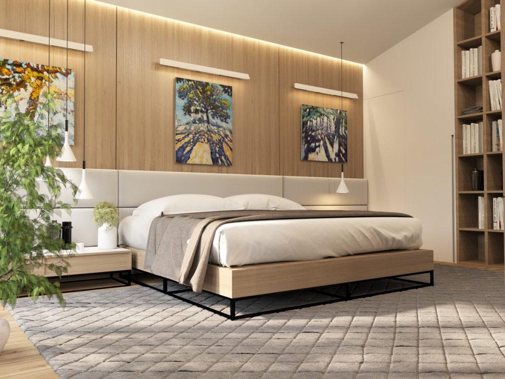 luksusowa sypialnia wizualizacja Julia Ljublianova