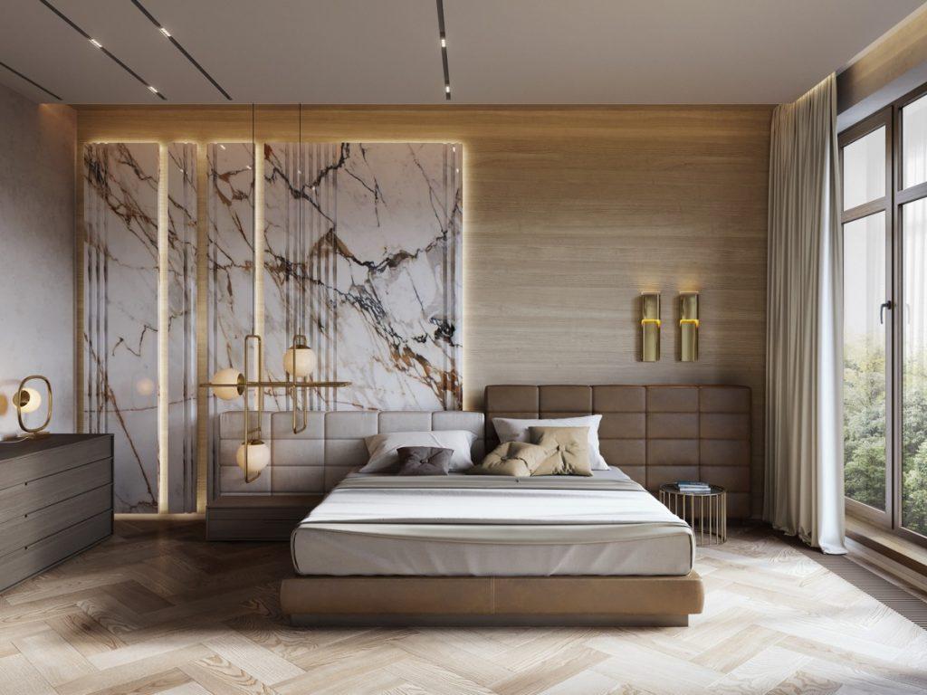 luksusowa sypialnia wizualizacja VizLine Studio