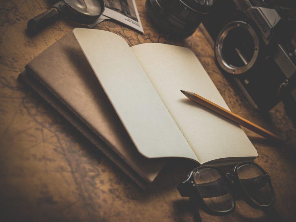 Notesbog til backpacking