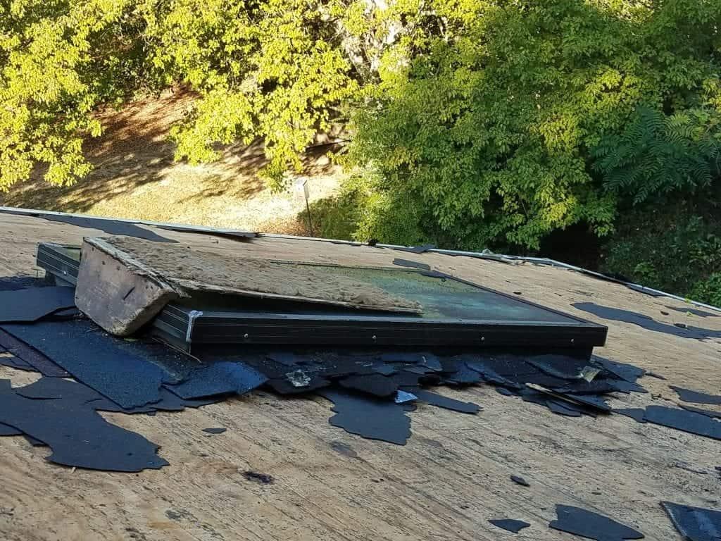 Old skylight bare roof atlanta ga