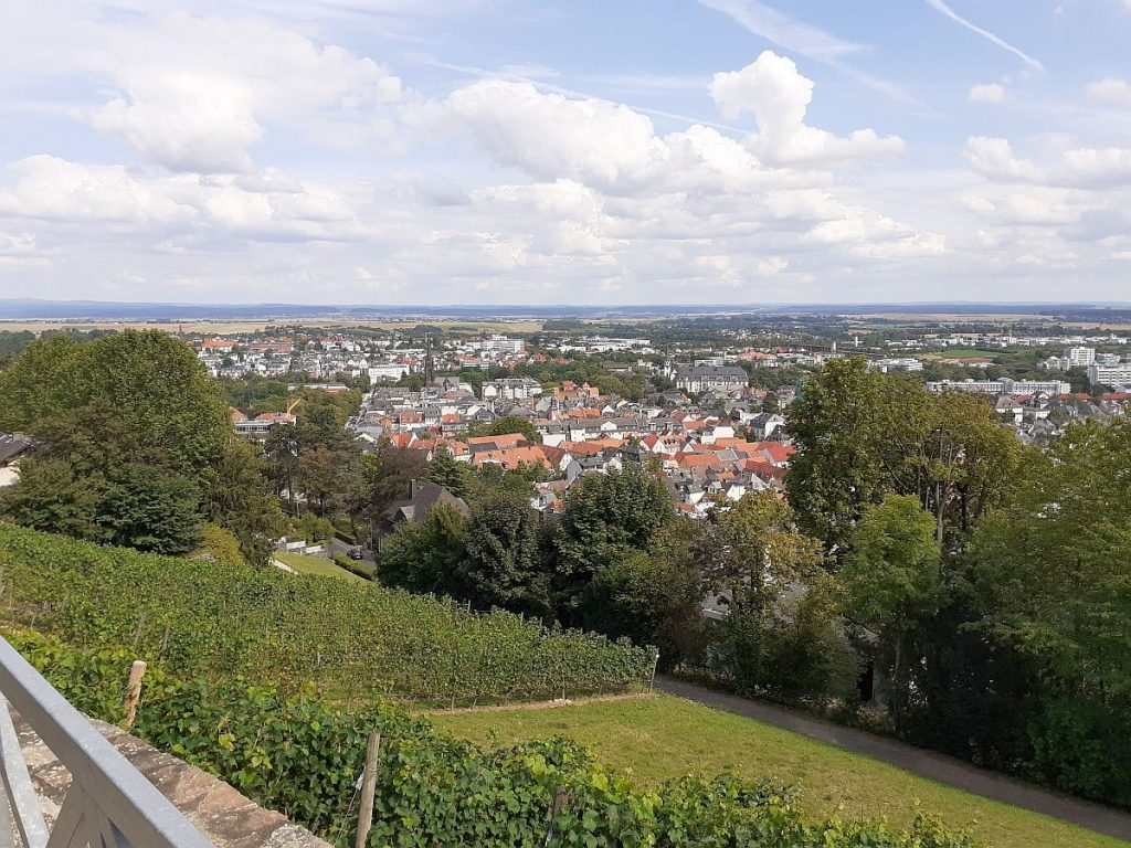 Blick vom Johannisberg auf Bad Nauheim
