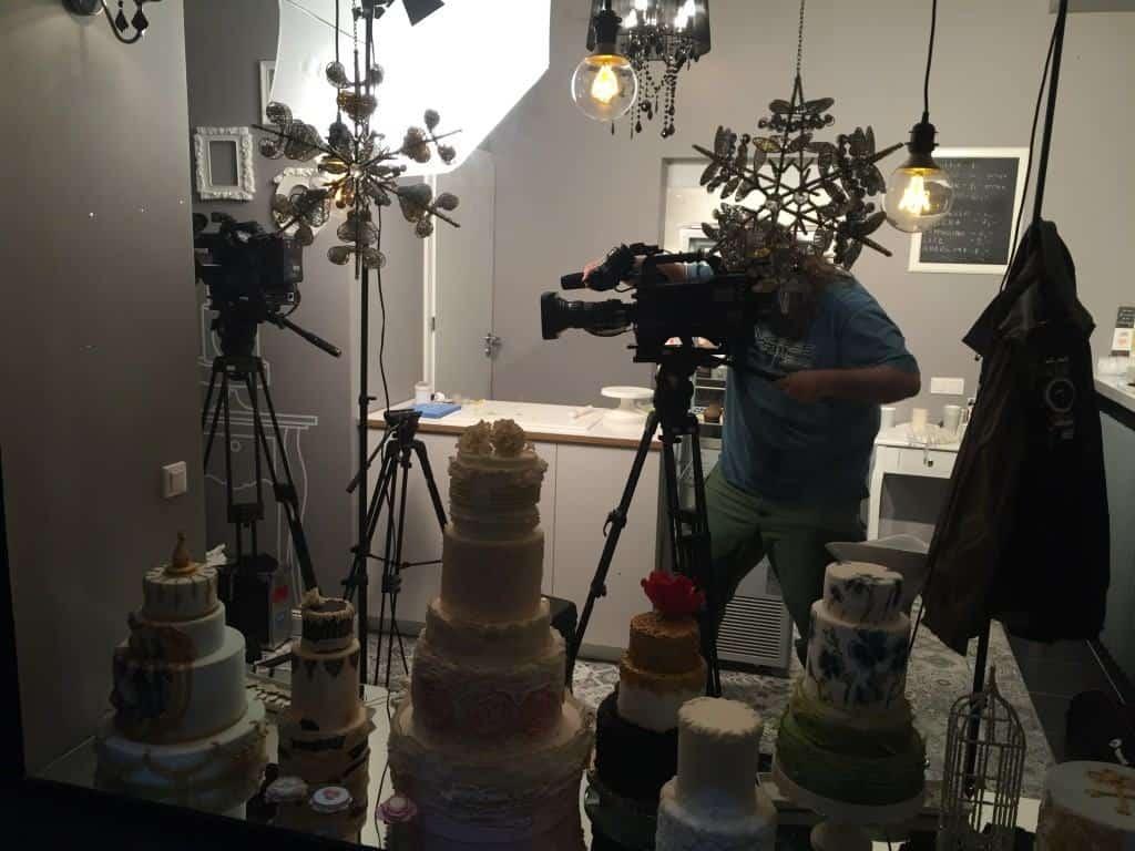 nagrywamy przygotowania tortu dla maryli