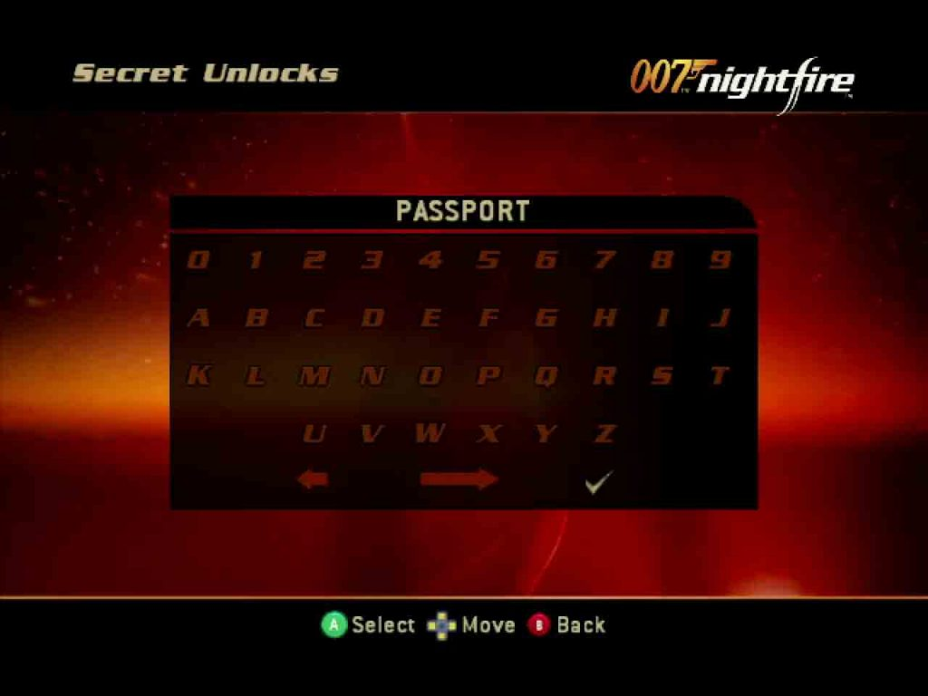 007 Nightfire Level Select