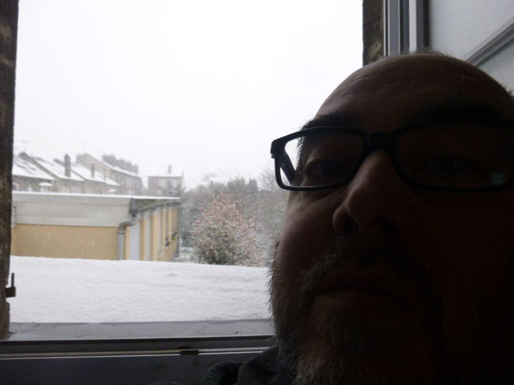 Un peu de neige derrier chez moi, le 16/01/2021