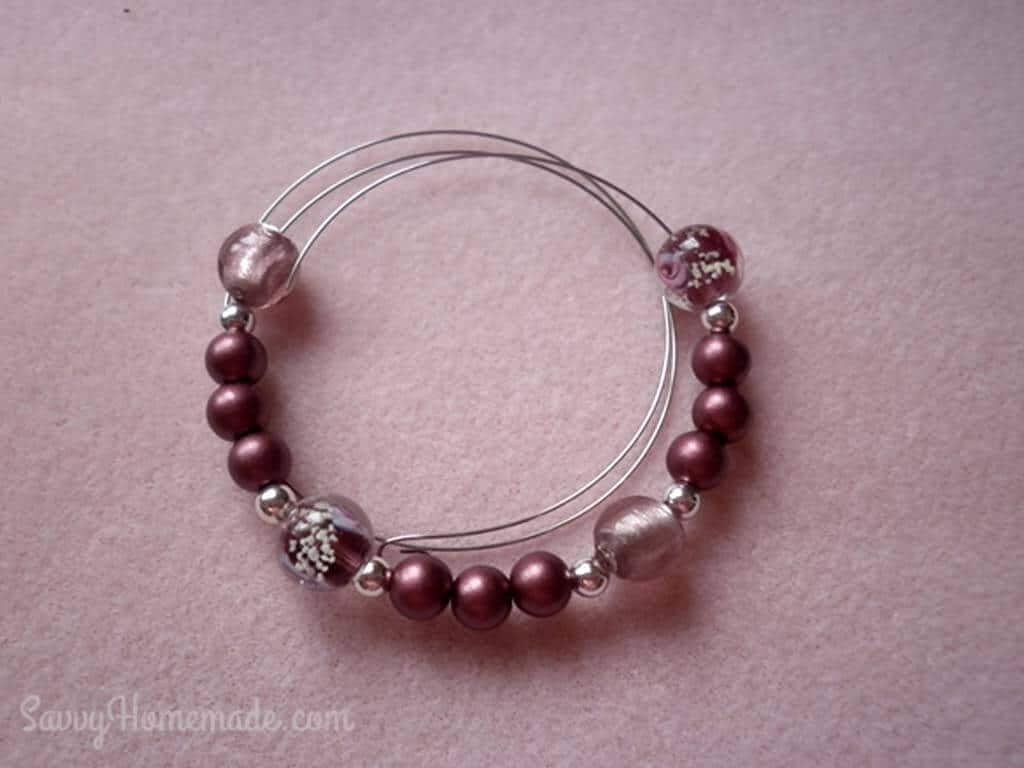Memory wire bracelet DIY Part 3A