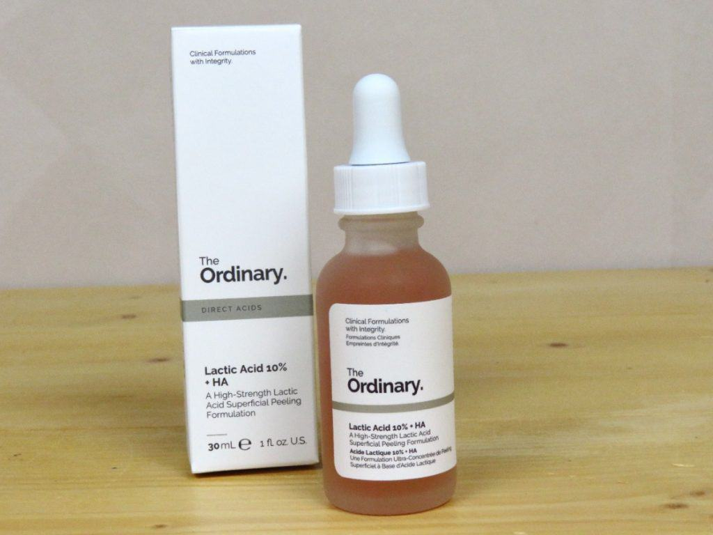 The Ordinary lactic acid 10% + HA 2%