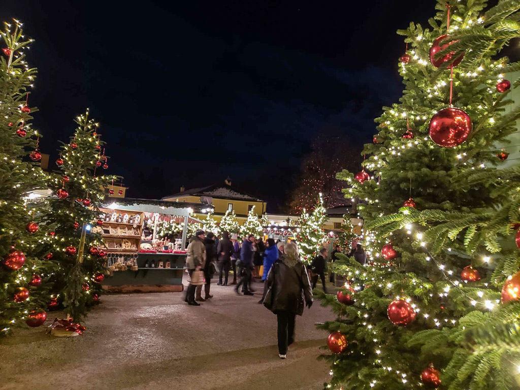 hellbrunn palace christmas market in salzburg austria