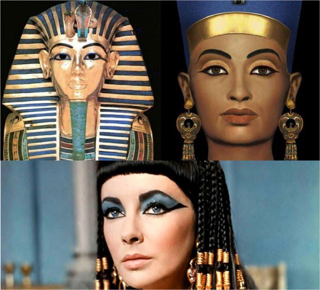 Muestra de maquillaje egipcio
