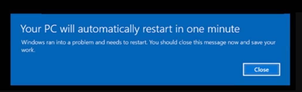 Windows 10 reboots