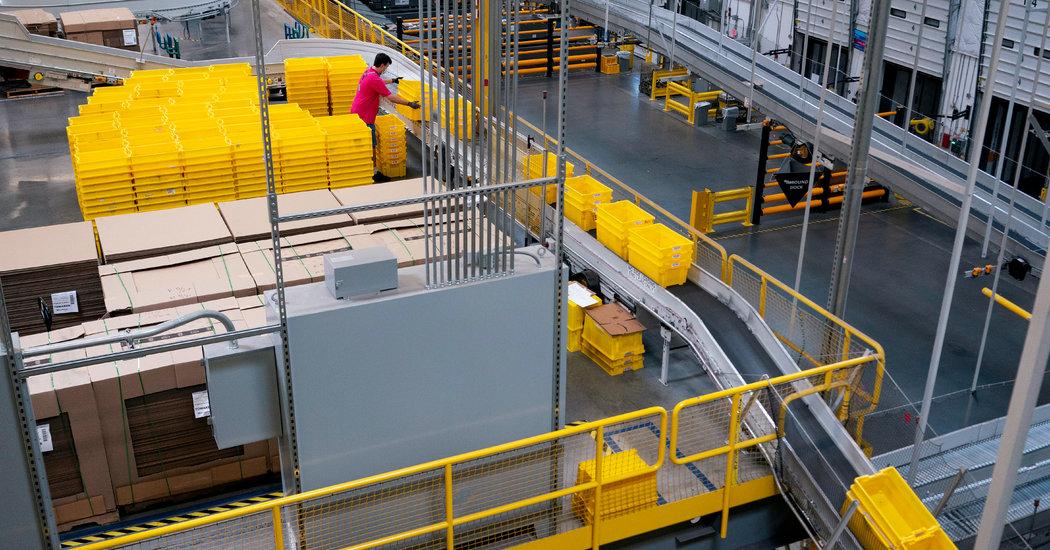 What It Looks Like Inside an Amazon Warehouse Now