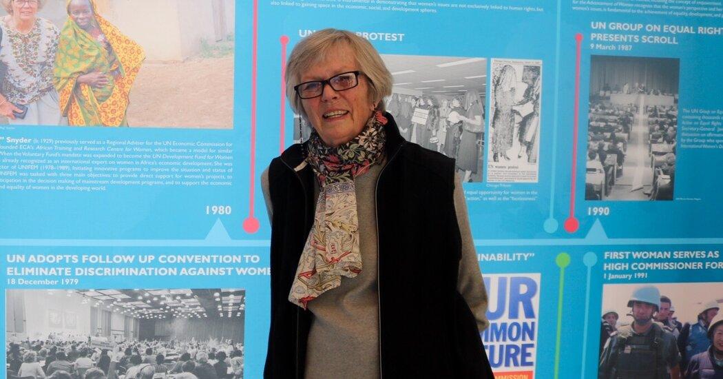 Margaret C. Snyder, the U.N.'s 'First Feminist,' Dies at 91