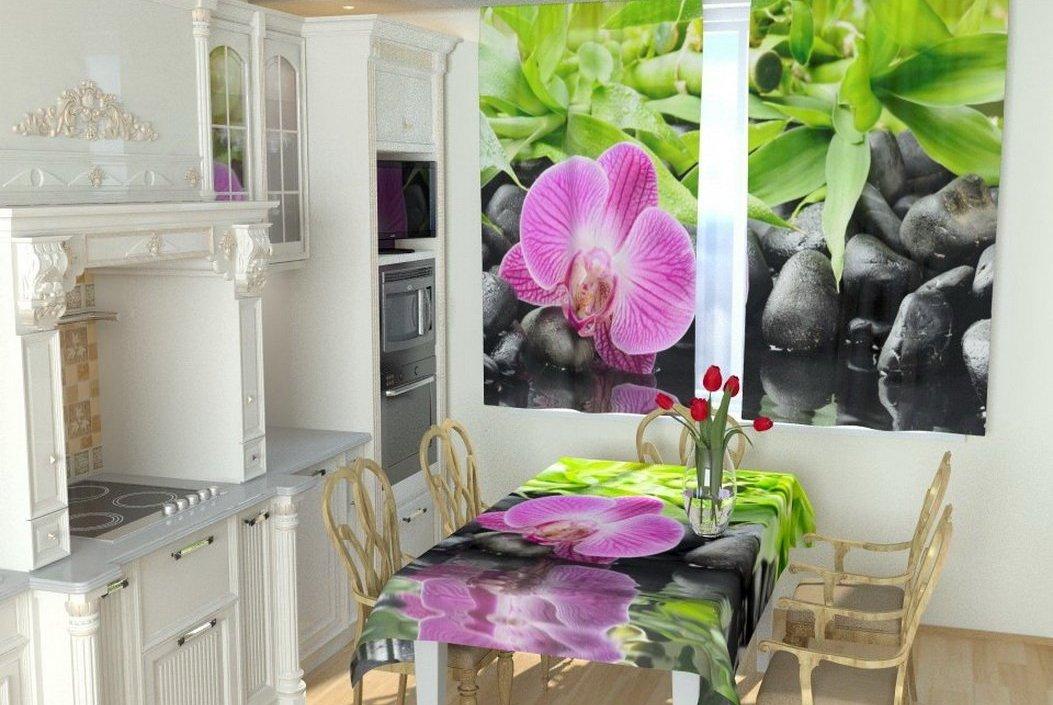 Выбор фотоштор с учетом дизайна кухни