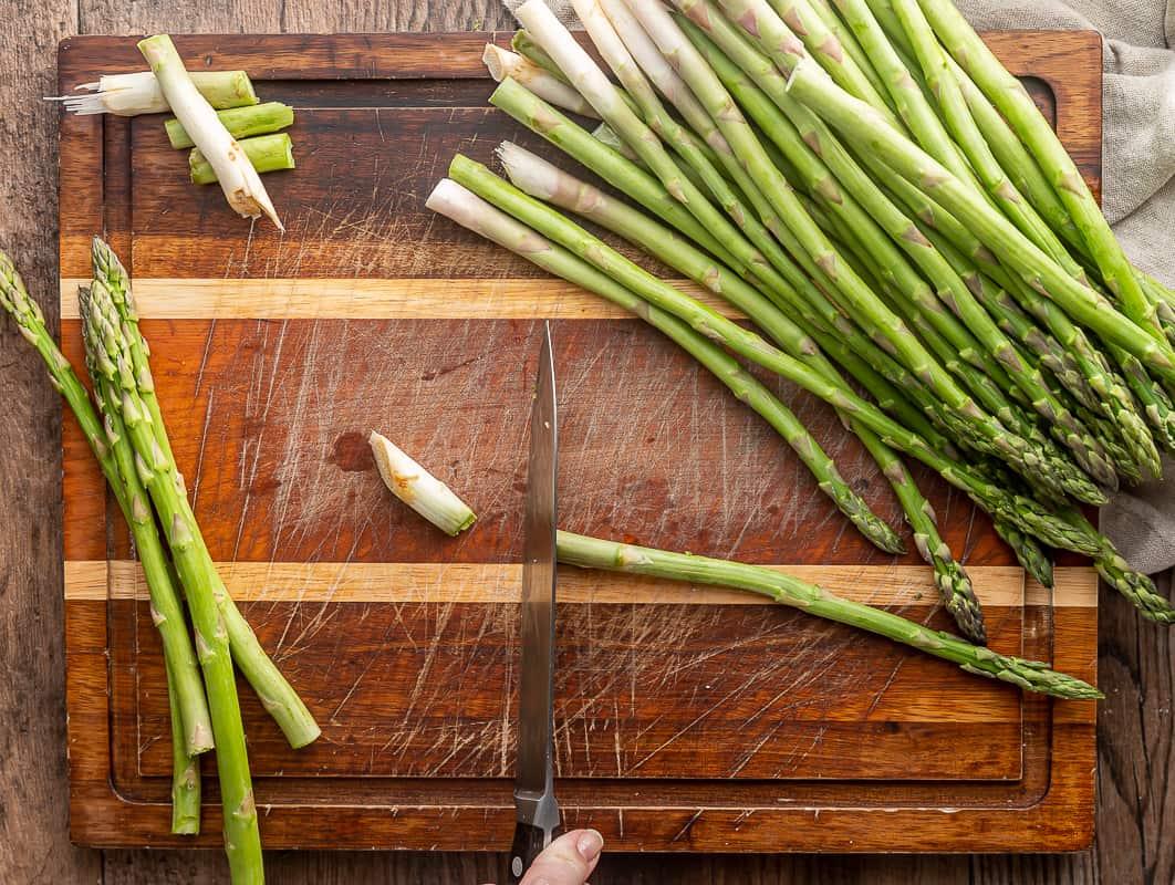 best way to trim asparagus