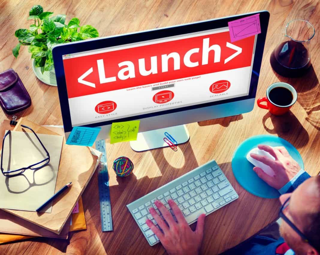 launch webseite
