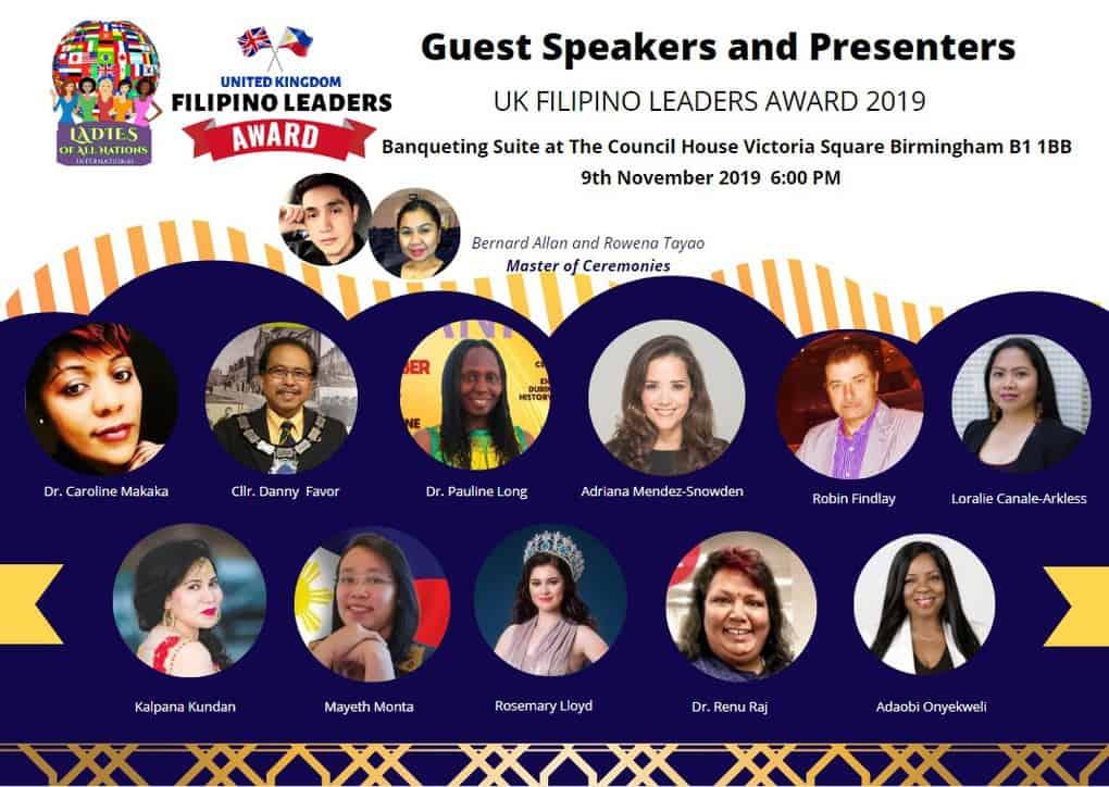 UK Filipino Awards Event Speakers