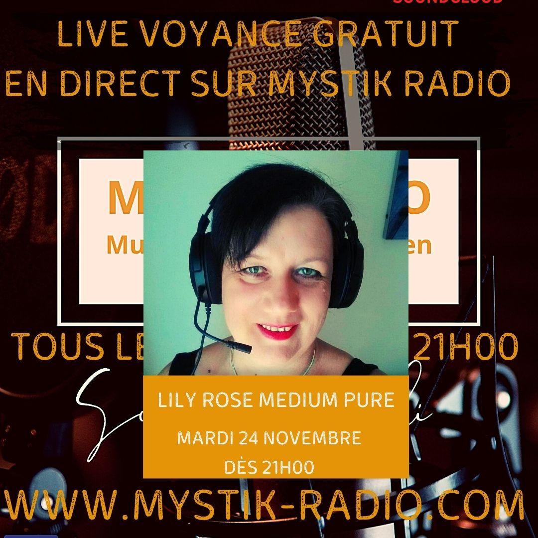 Lily Rose médium spirit chez Infinità Corse voyance en live voyance gratuit sur Mystik Radio