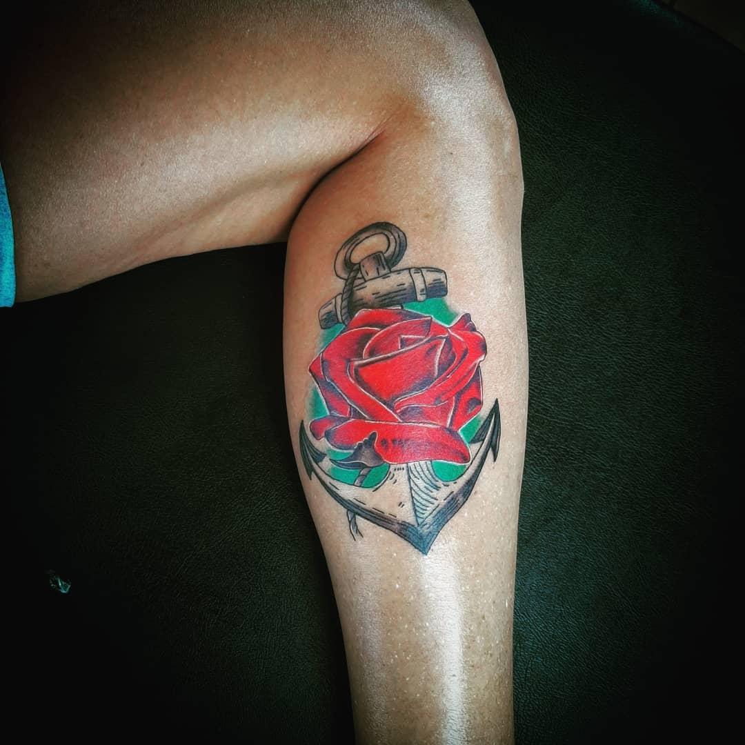 Anchor tattoo 3