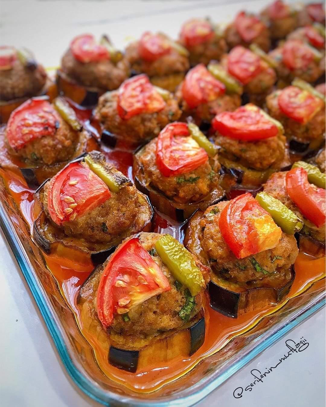 Fırında Patlıcan Dizme Tarifi