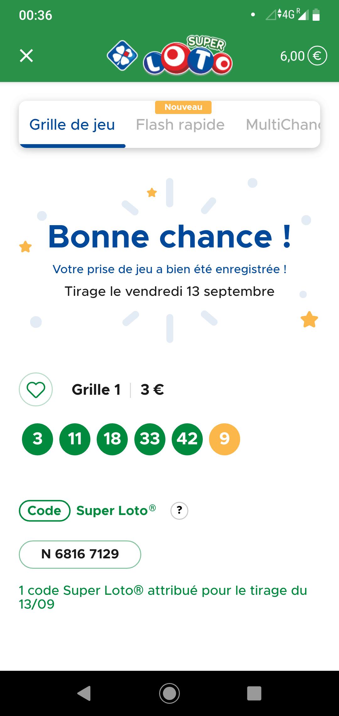 grille Super Loto du V13 septembre 2019