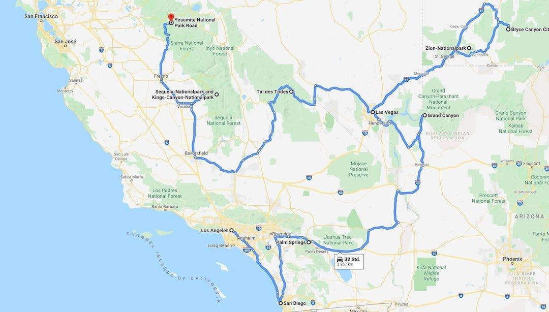 21-tägige Route San Francisco