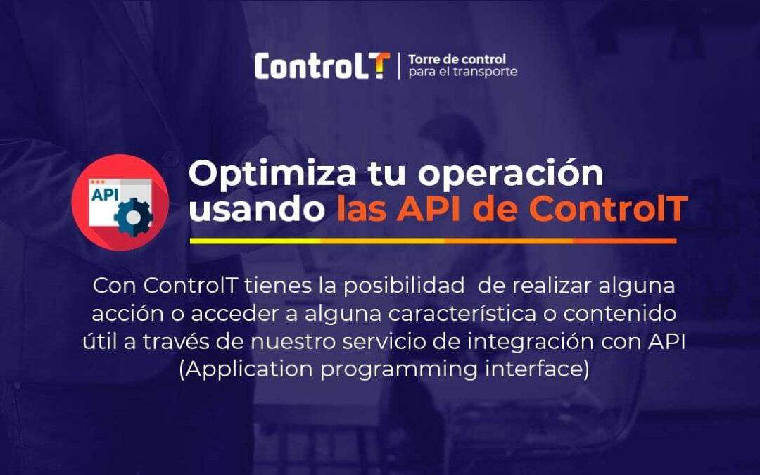 Optimiza tu operación usando las API de ControlT