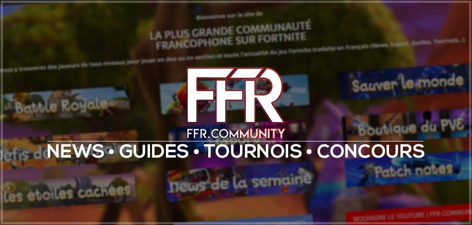 FFR community débarque avec son site internet dédié sur Fortnite