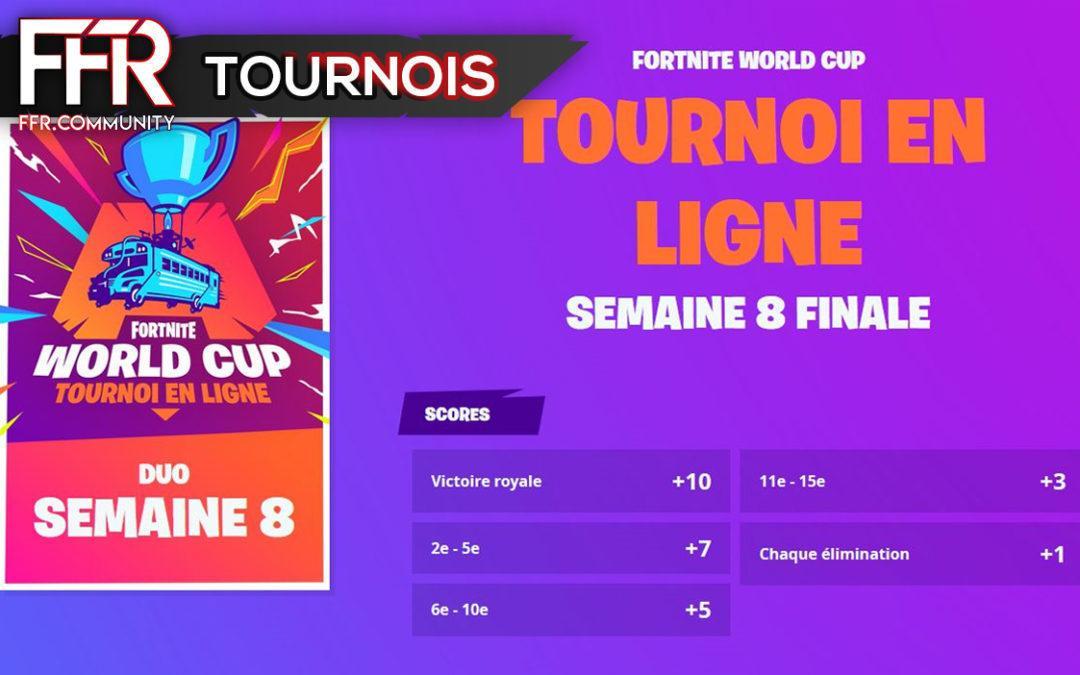 World Cup Fortnite – Résultats Semaine 8