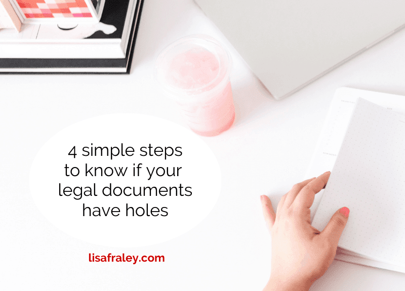 4 simple steps to know if your legal docs have holes