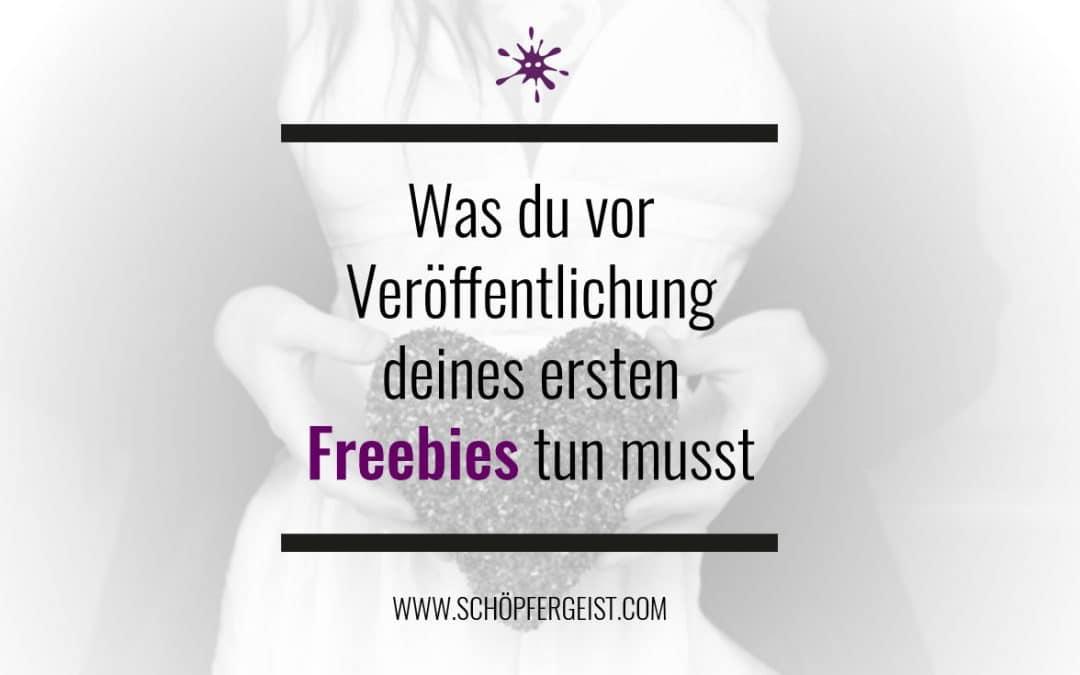 Was du vor Veröffentlichung deines ersten Freebies tun musst