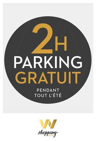 2h Parking gratuit tout l'été !