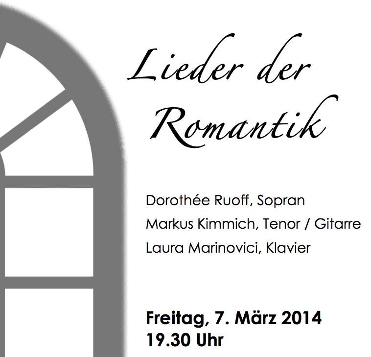 Lieder der Romantik in der Alten Kirche Mochenwangen