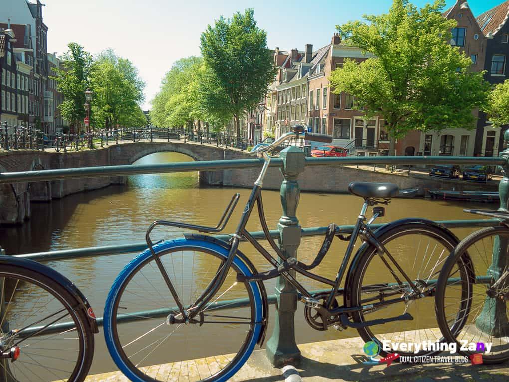 View of 15 Bridges in Amsterdam