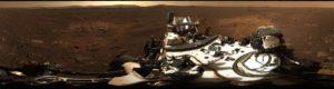 Imagen panorámica de Marte.