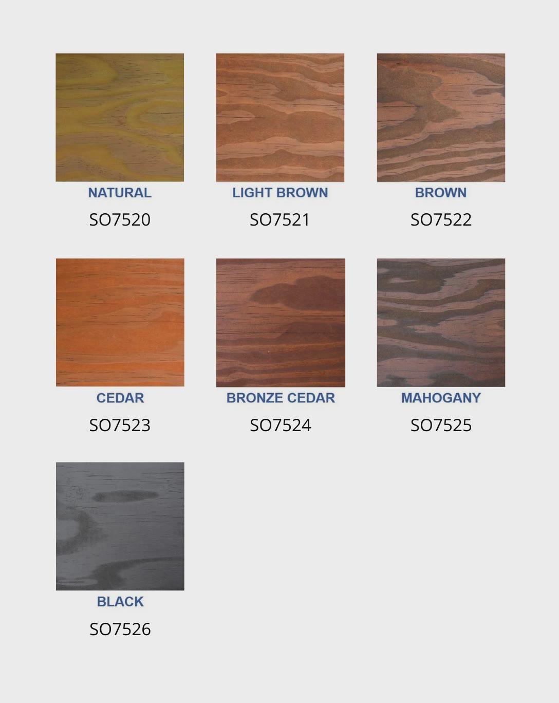 Seal Once Nano Poly Premium Wood Sealer Colors