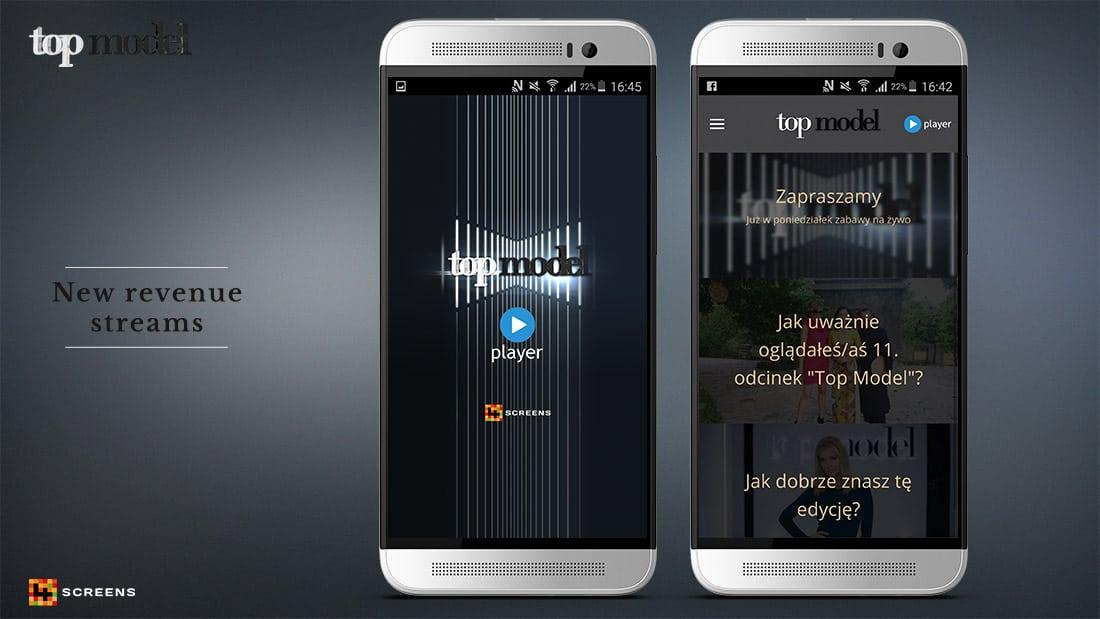 Second Screen App top model