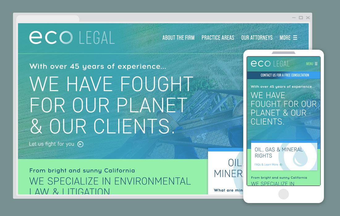 Example lawfirm website & mobile view - progressive direction