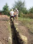 Выкопать фундамент под дом