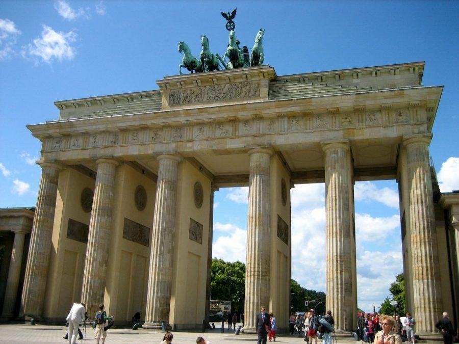 Puerta de puerta de Brandenburgo en Berlín