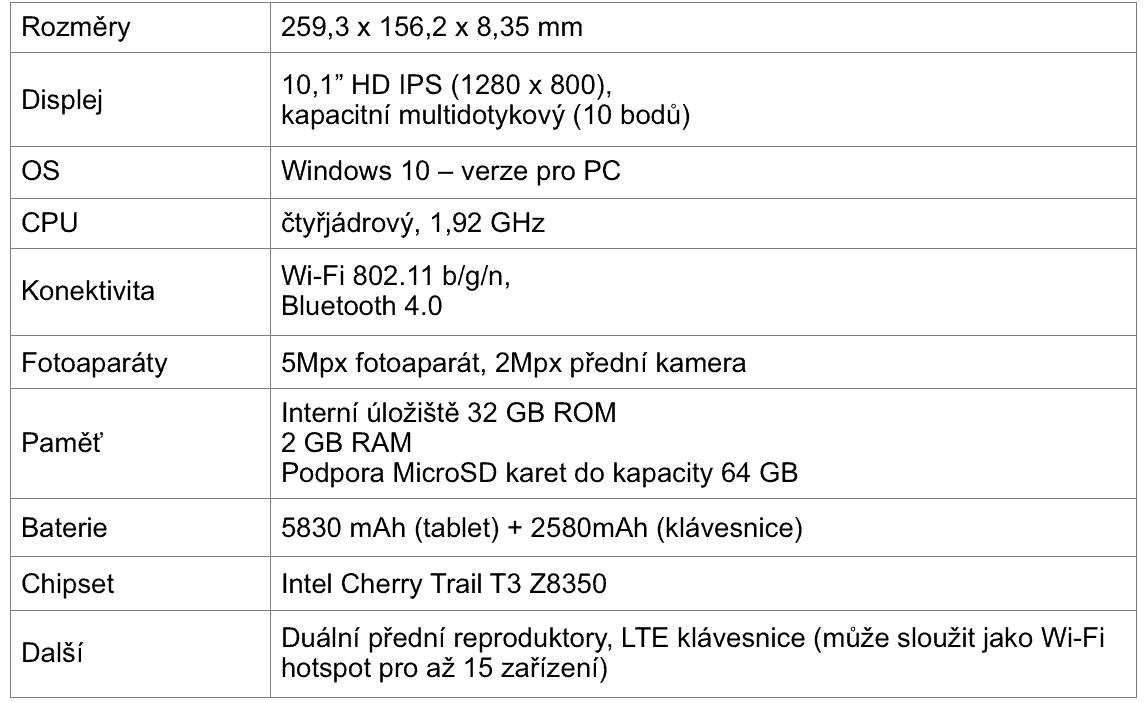 Alcatel Plus 10 Spec
