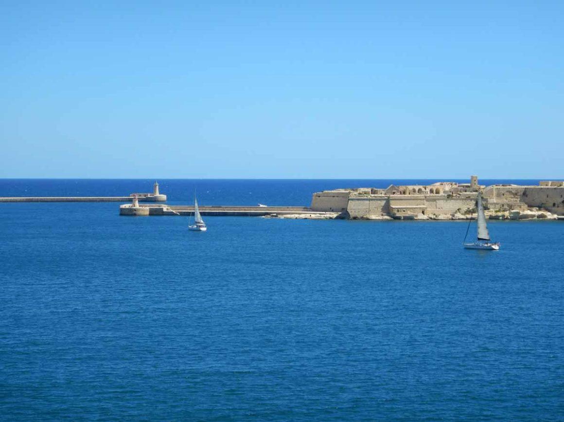 Curiosità su Malta e Gozo: Vista da Forte Sant'Angelo, Vittoriosa