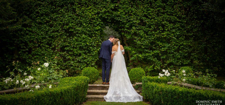 Bride and Groom at Langshott Manor 3