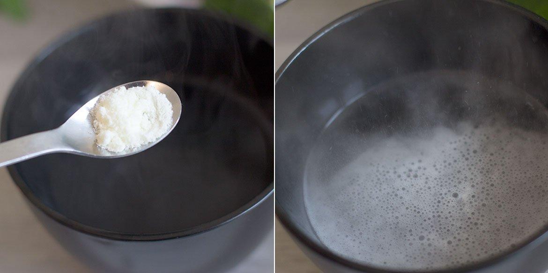 Suana Facial FG cosmetique poudre diluée dans un bol