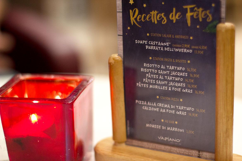 Affiche recettes de fêtes Vapiano